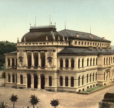 568px National Gallery Of Slovenia 1910 Postcard