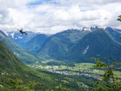 04 Zipline Slovinsko Bovec Alpicenter