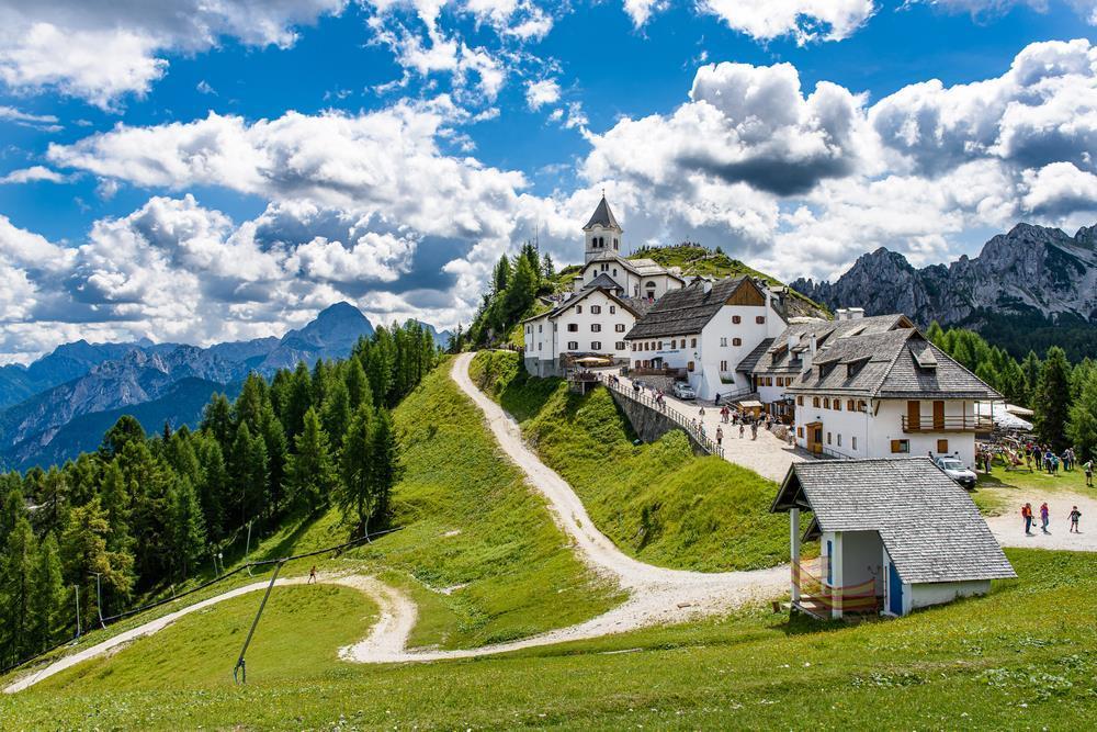 Poutní hora Monte Lussari